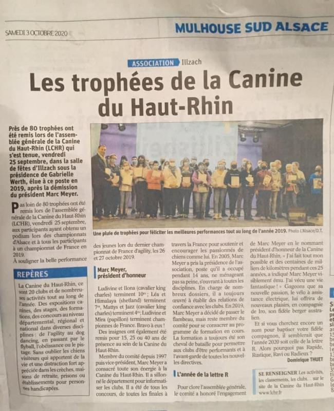 Article L'ALSACE du 03/10/2020